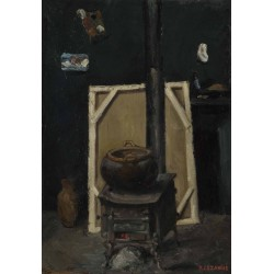 Paul Cézanne - The Stove in the Studio