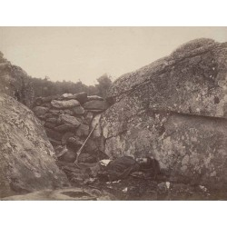 Alexander Gardner - Home of a Rebel Sharpshooter, Gettysburg from Gardner's Photographic Sketchbook of the War,