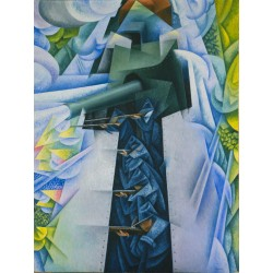 Gino Severini - Armored Train in Action