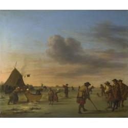 Adriaen van de Velde - Golfers on the Ice near Haarlem