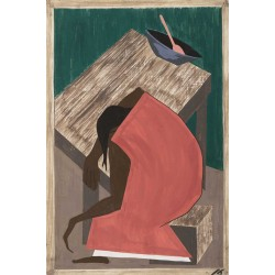 Jacob Lawrence - Although the Negro was used to lynching