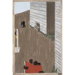 Jacob Lawrence - In many of the communities the Negro press was read continually