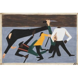 Jacob Lawrence - One of the largest race riots occurred in East St. Louis